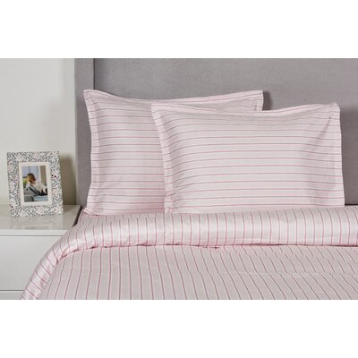 Stripe Duvet Cover Set Size: King, Color: Pink