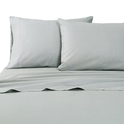 Classic Hemstitch Sheet Set Size: King, Color: Vapor Blue