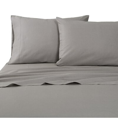 Classic Hemstitch Sheet Set Size: King, Color: Stone Gray