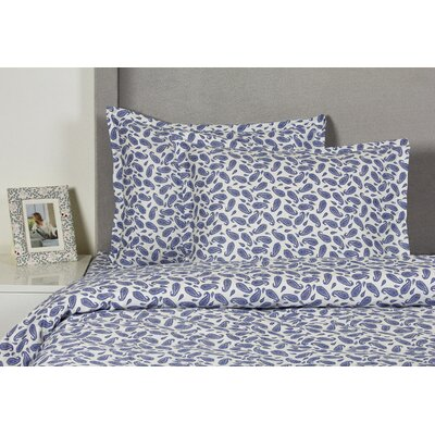 Block Paisley Duvet Cover Set Size: Full / Queen