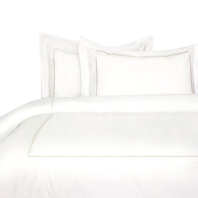 Stripe Duvet Cover Set Size: King, Color: Ivory