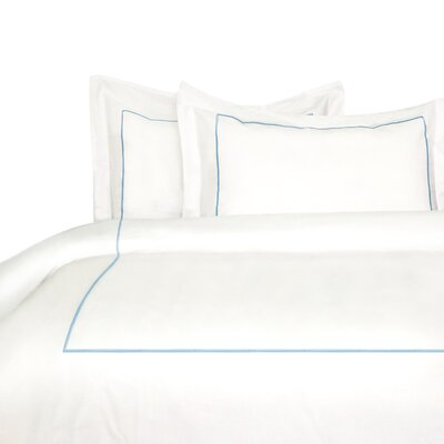 Stripe Duvet Cover Set Size: King, Color: Blue