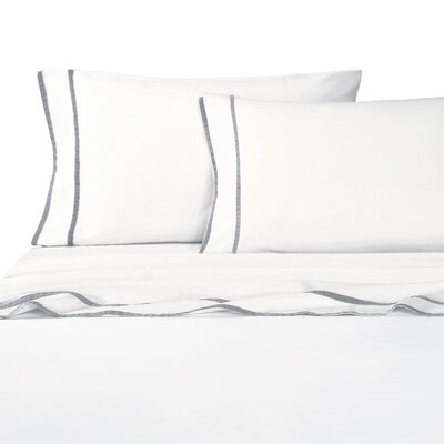 Parallel Border Sheet Set Size: Queen, Color: Gray
