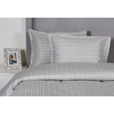 Arrows Duvet Cover Set Size: Full / Queen, Color: Gray