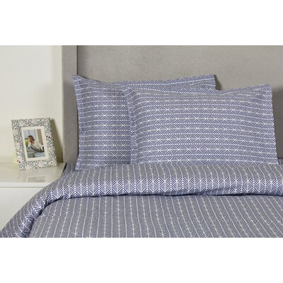 Arrows Duvet Cover Set Size: Twin, Color: Blue