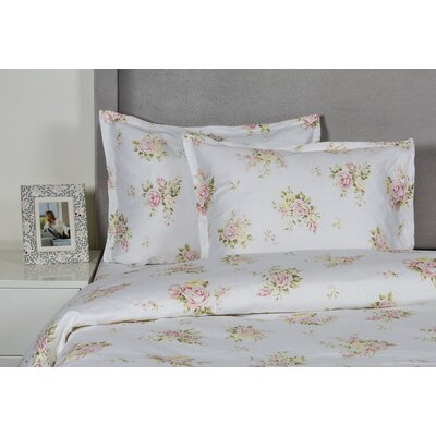 Rose Bouquet Duvet Cover Set Size: King