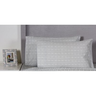 Arrows 400 Thread Count Cotton Pillowcase Color: Gray