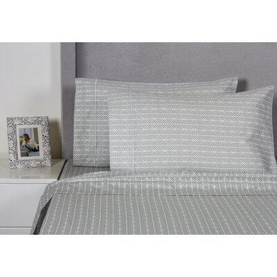 Arrows 400 Thread Count Cotton Sheet Set Size: King, Color: Gray