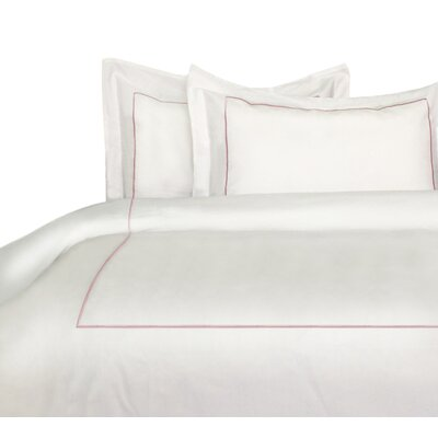 Stripe Duvet Cover Set Size: Twin, Color: Rose