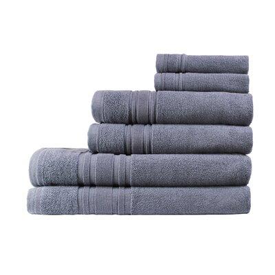 Turkish Cotton Ensemble 6 Piece Towel Set Color: Anthracite Gray