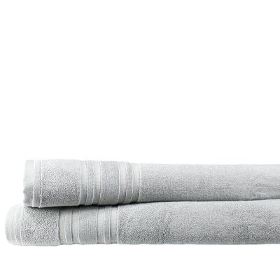 Turkish Cotton Bath Sheet Color: Pebble Gray