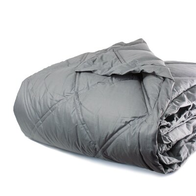 Down Alternative Diamond Cotton Shell Blanket Color: Charcoal Gray, Size: Full / Queen