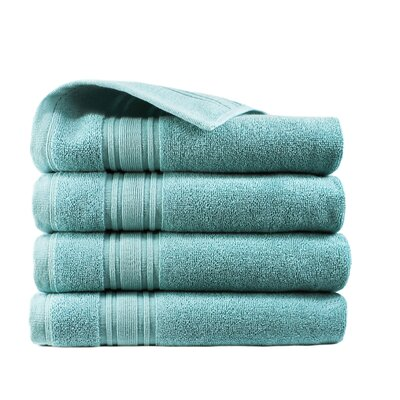 Turkish Cotton Hand Towel Color: Reef Aqua
