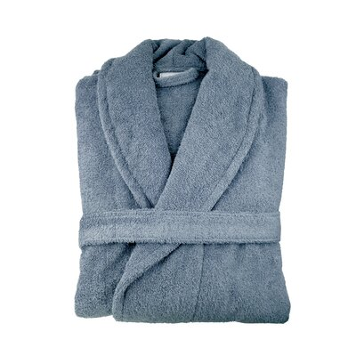 Turkish Cotton Bathrobe Color: Slate Blue
