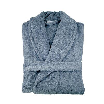 Turkish Cotton Bathrobe Color: Slate Blue