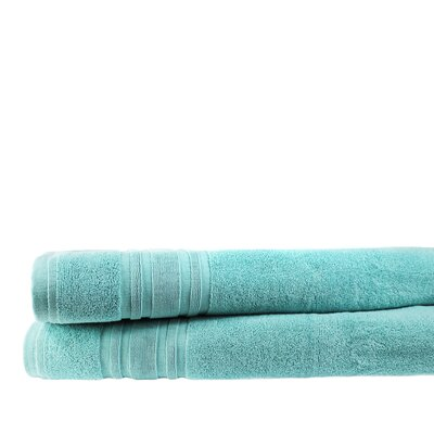 Turkish Cotton Bath Sheet Color: Reef Aqua