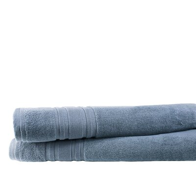 Turkish Cotton Bath Sheet Color: Slate Blue