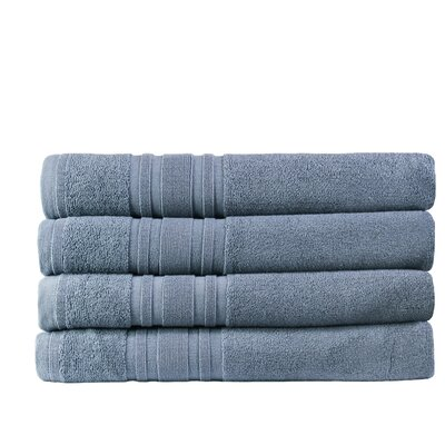 Turkish Cotton Bath Towel Color: Slate Blue