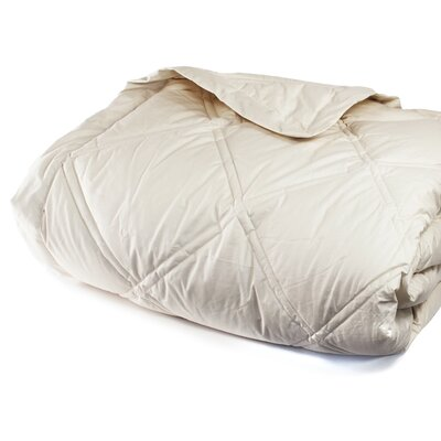 Down Alternative Diamond Cotton Shell Blanket Size: King, Color: Sand Dune