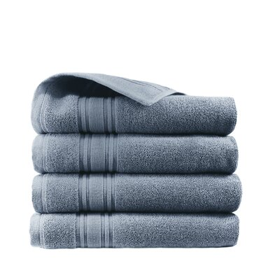 Turkish Cotton Hand Towel Color: Slate Blue