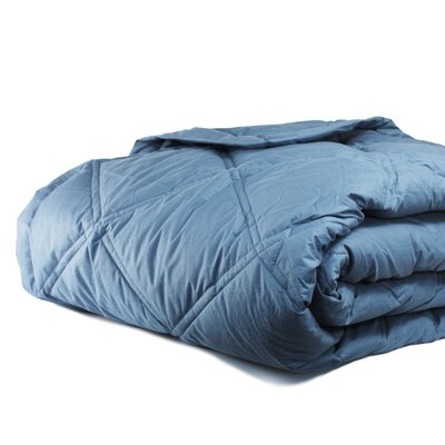 Down Alternative Diamond Cotton Shell Blanket Size: Full / Queen, Color: Rock Blue