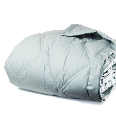 Down Alternative Diamond Cotton Shell Blanket Size: Twin / Twin XL, Color: Juniper Blue