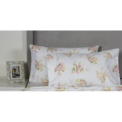 Rose Bouquet 400 Thread Count Cotton Pillowcase