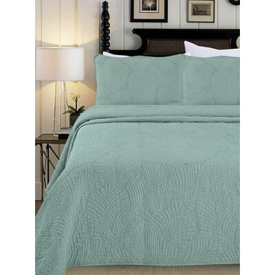 Quilt Set Size: King, Color: Bleach Turquoise
