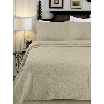 Quilt Set Color: Natural, Size: Full/Queen