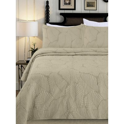 Quilt Set Size: King, Color: Natural