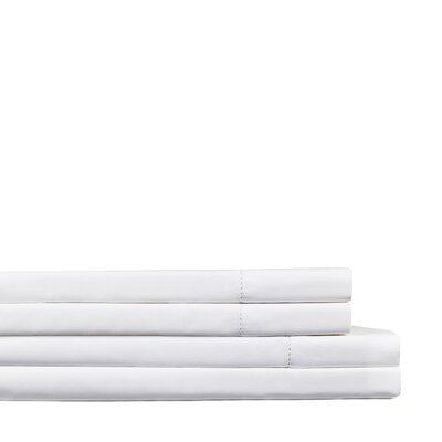Dilworth Hemstitch Pillow Case Size: King, Color: White