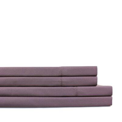Dilworth Hemstitch Pillow Case Size: Standard, Color: Purple