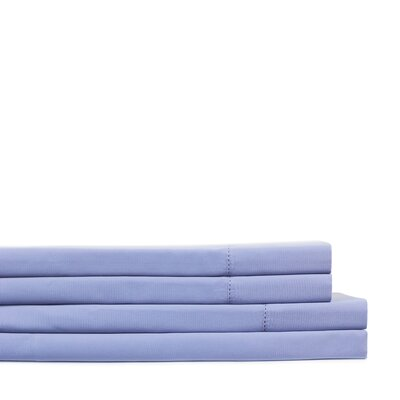 Dilworth Hemstitch Pillow Case Size: King, Color: Periwinkle