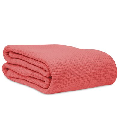 Cotton Woven Blanket Size: Full/Queen, Color: Blooming Coral