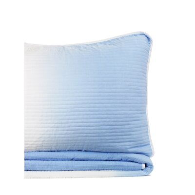 Pedro Reversible Quilt Set Size: King, Color: Light Blue