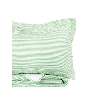 Rosann Reversible Quilt Set Size: King, Color: Green Apple