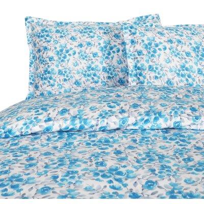 Audubon Reversible Duvet Set Size: Full/Queen, Color: Blue