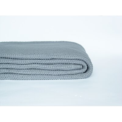 Donahue Cotton Knit Throw Color: Cool Gray