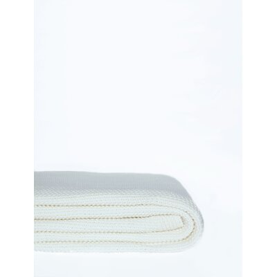 Donahue Cotton Knit Throw Color: Ivory