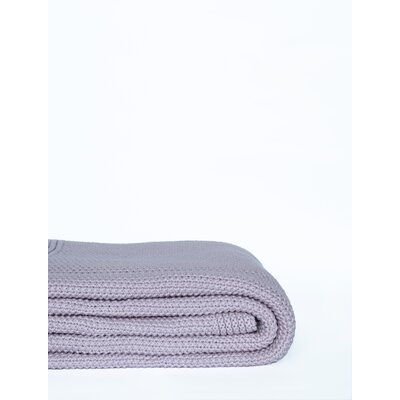 Donahue Cotton Knit Throw Color: Lilac