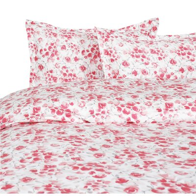Audubon Reversible Duvet Set Size: King, Color: Red