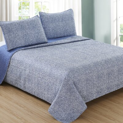Ron Chereskin Reversible Quilt Set Size: King, Color: Denim Blue
