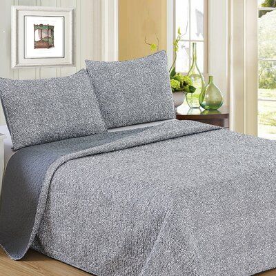 Ron Chereskin Reversible Quilt Set Size: King, Color: Gray