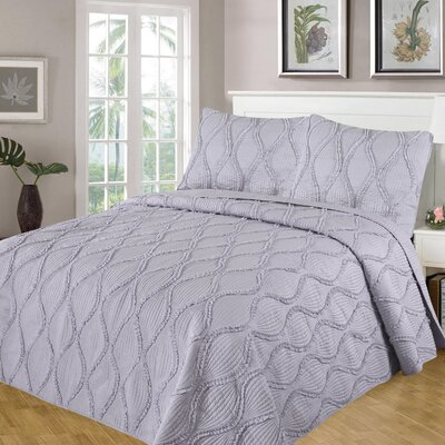 Kameron Reversible Quilt Set Size: Full/Queen, Color: Light Gray