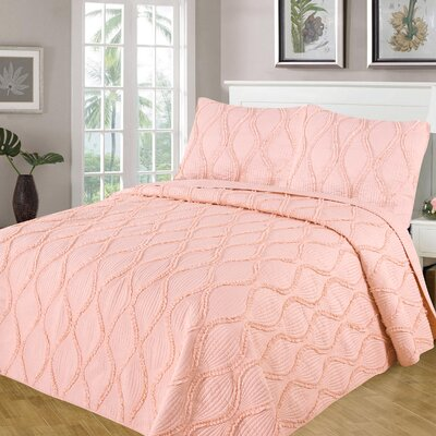 Kameron Reversible Quilt Set Size: King, Color: Smokin Pink