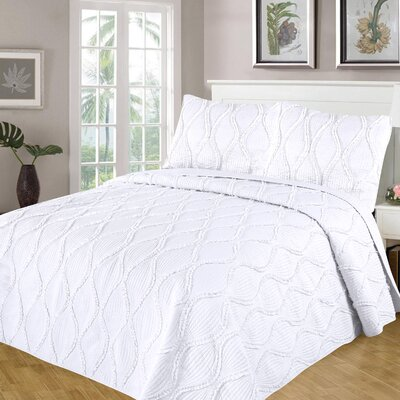 Kameron Reversible Quilt Set Size: Full/Queen, Color: White