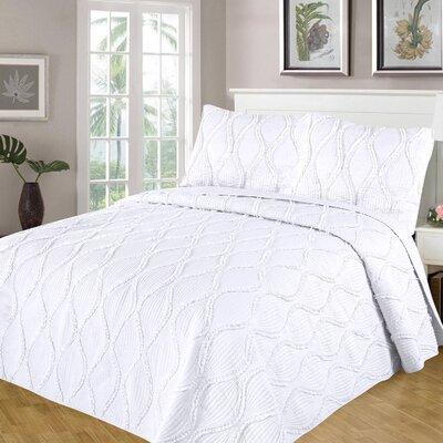 Kameron Reversible Quilt Set Size: Twin/Twin XL, Color: White