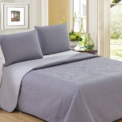Ron Chereskin Reversible Quilt Set Size: King, Color: Dark Gray/Light Gray