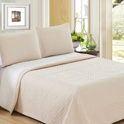 Ron Chereskin Reversible Quilt Set Size: King, Color: Linen/Natural