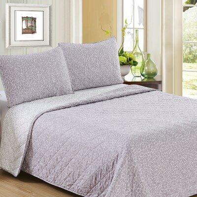 Ron Chereskin Reversible Quilt Set Size: King, Color: Iris Lavender